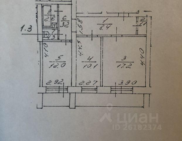 Продается двухкомнатная квартира за 1 800 000 рублей. г Саратов, ул Ново-Астраханская, д 22/26.