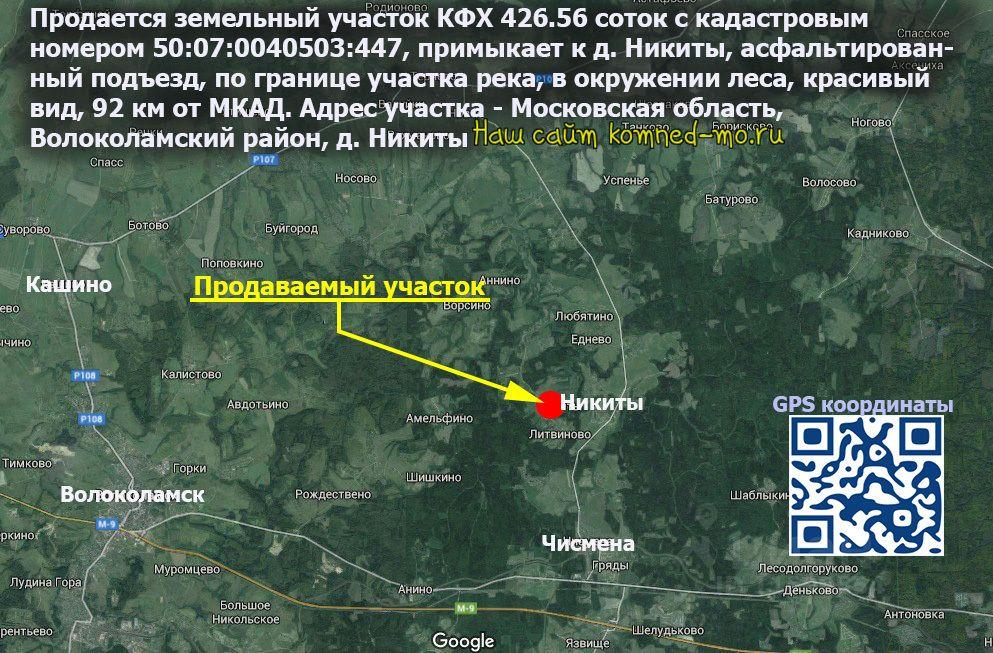 продажа недвижимости Волоколамский район, деревня Никиты