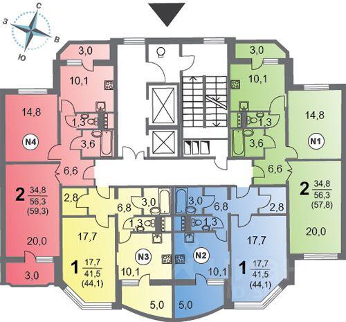 продажа двухкомнатной квартиры поселение Сосенское, метро Бунинская аллея, улица Александры Монаховой, д. 109к3