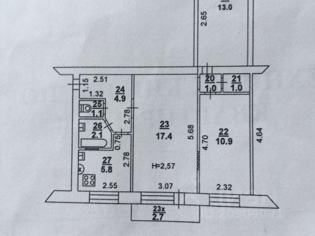 Продается трехкомнатная квартира за 3 000 000 рублей. г Ростов-на-Дону, пр-кт Ленина, д 223.