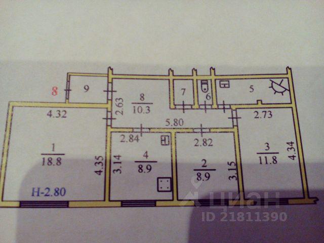 Продается четырехкомнатная квартира за 4 200 000 рублей. Россия, Ямало-Ненецкий автономный округ, Салехард, улица Шалгина, 2.