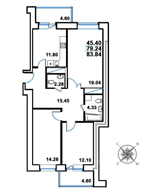 продается трехкомнатная квартира город Реутов, улица Головашкина, д. 3к1