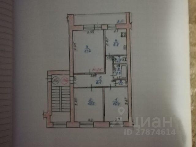 Продается трехкомнатная квартира за 3 100 000 рублей. г Саранск, ул Коммунистическая, д 10.