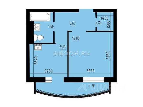 Продается однокомнатная квартира за 2 580 000 рублей. г Красноярск, ул Петра Ломако.