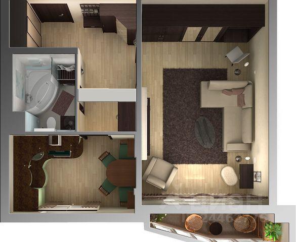 Продается однокомнатная квартира за 1 250 000 рублей. г Великий Новгород, ул Октябрьская, д 32.