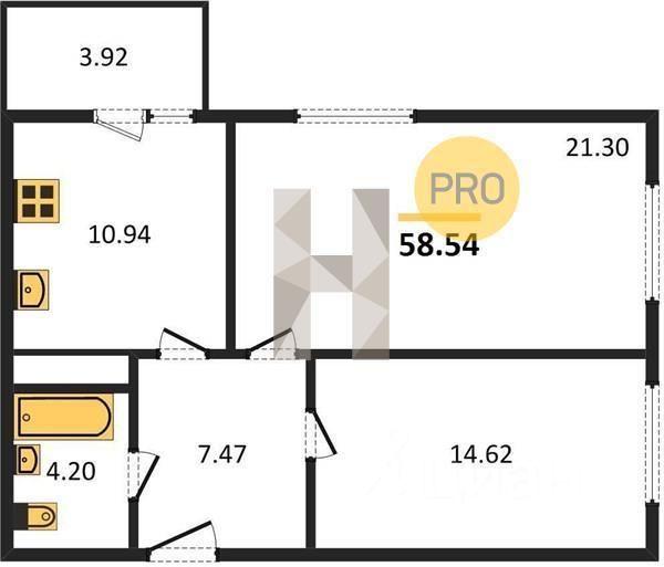 продам двухкомнатную квартиру Истринский район, поселок Деревня Красный