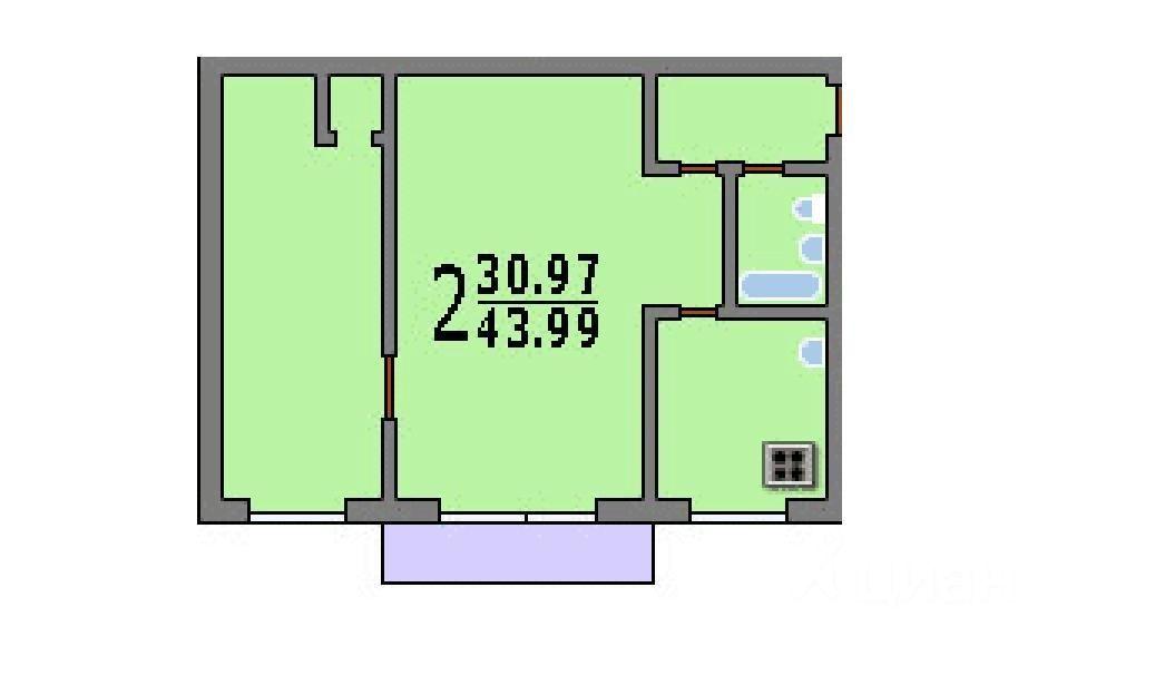 продам двухкомнатную квартиру город Москва, метро Кузьминки, улица Шумилова, д. 2К1
