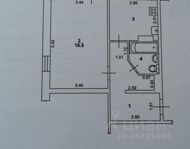 Продается однокомнатная квартира за 1 300 000 рублей. Саратовская обл, г Балаково, ул Проспект Героев, д 39.