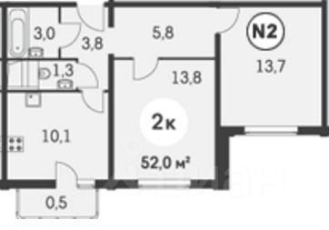 куплю двухкомнатную квартиру город Москва, метро Молодежная, Ельнинская улица, д. 14Б