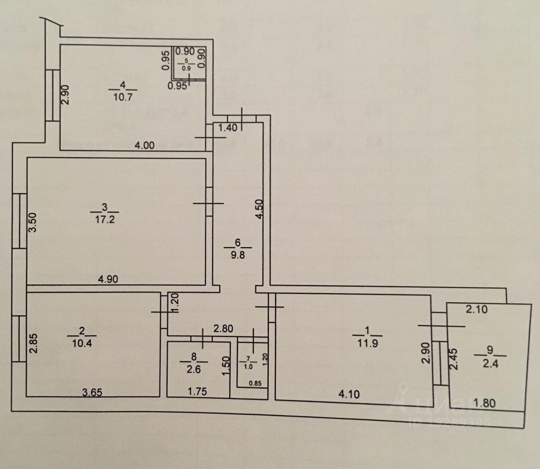 Продаю трехкомнатную квартиру 64.5м² Краснодарский край, Геленджик, мкр. Северный, 7 - база ЦИАН, объявление 235546319