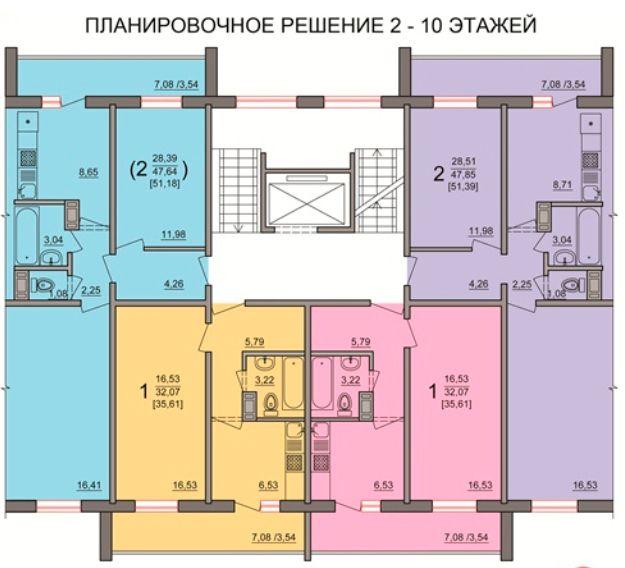 купить квартиру в ЖК Победы, 48б