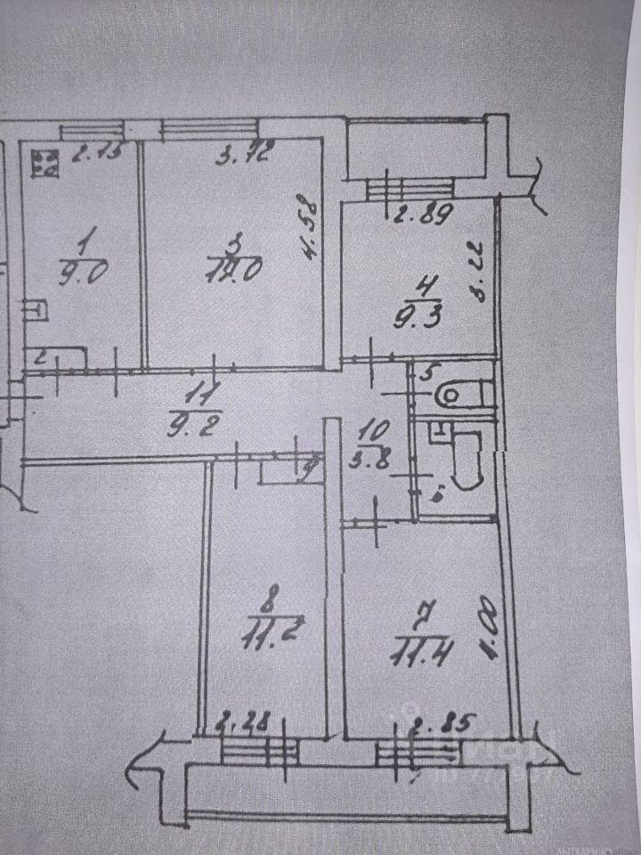 Купить четырехкомнатную квартиру 81.6м² Московская область, Лыткарино, 5-й микрорайон, 2-й квартал, 12 м. Котельники - база ЦИАН, объявление 252391389