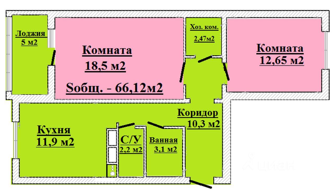 Сдам двухкомнатную квартиру 66.12м² Парашютная ул., 58, Санкт-Петербург, р-н Приморский, Коломяги м. Комендантский проспект - база ЦИАН, объявление 221601401