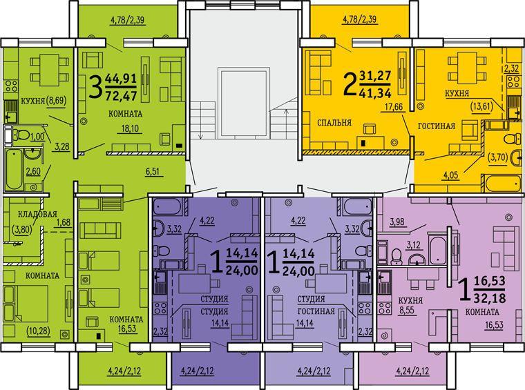 продажа квартир Вцентре74 (дом на Энтузиастов)