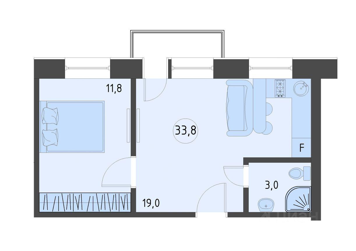 Продаю двухкомнатные апартаменты 33.8м² Строительный проезд, 2С1, Москва, СЗАО, р-н Южное Тушино м. Тушинская - база ЦИАН, объявление 253136252