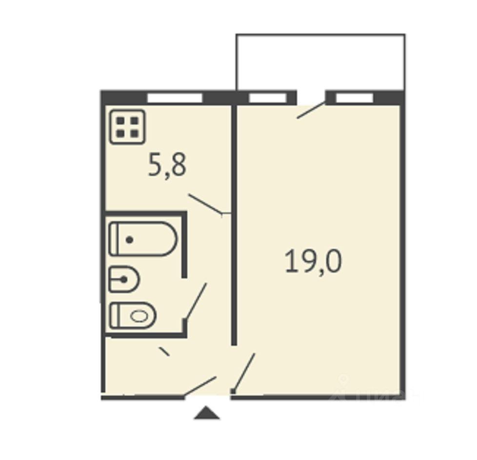 Сдам однокомнатную квартиру 31м² ул. Шаумяна, 87, Челябинск, Челябинская область, р-н Советский - база ЦИАН, объявление 251377142