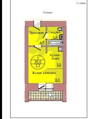 Купить однокомнатную квартиру 30м² ул. Горького, Благовещенск, Амурская область - база ЦИАН, объявление 229912239