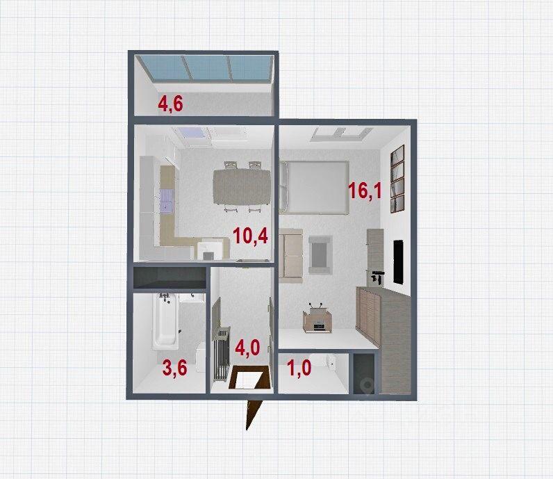 Купить однокомнатную квартиру 35.4м² просп. Энергетиков, 9к6, Санкт-Петербург, р-н Красногвардейский, Большая Охта м. Ладожская - база ЦИАН, объявление 252064962