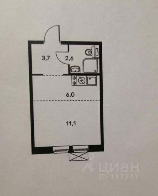 Купить квартиру-студию 24м² Москва, ЗАО, р-н Кунцево, Мякинино Парк жилой комплекс, 2с1 м. Павшино - база ЦИАН, объявление 249386691