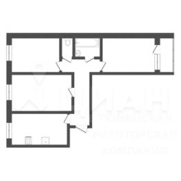 Планировка этой квартиры по данным Циан