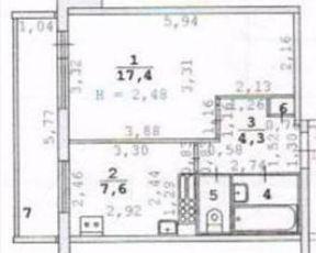 Продаю однокомнатную квартиру 34м² ул. Академика Бардина, 12, Екатеринбург, Свердловская область, р-н Верх-Исетский, Юго-Западный микрорайон, мкр. Юго-Западный - база ЦИАН, объявление 240111449