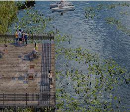 Скандиа. Квартал у озера