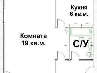 Продаю однокомнатную квартиру 31.5м² ул. Воронина, 1, Иваново, Ивановская область, р-н Фрунзенский - база ЦИАН, объявление 236684585