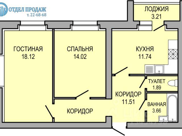 Продается двухкомнатная квартира за 2 135 000 рублей. Тамбовская обл, г Рассказово, ул Советская, д 31А.
